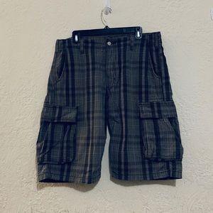 Levis Light Gray Plaid Shorts Size 33